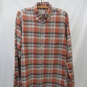 J Crew Madras Shirt Men's S Casual LS Shirt Plaid